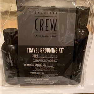 American Crew 4 Piece Travel Grooming Set